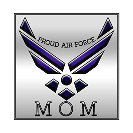 Amazon. Com: proud air force mom wings blue silver window laptop.