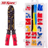 Hi-Spec Wire Strippers and Crimpers (4-in-1 Wire Crimper Stripper with Terminal Kit)