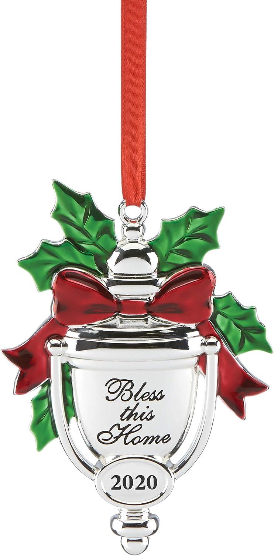 Lenox 2020 Bless This Home Ornament, 0.30 LB, Metallic