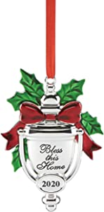 Lenox 2020 Bless This Home Ornament, 0.30 LB, Metallic