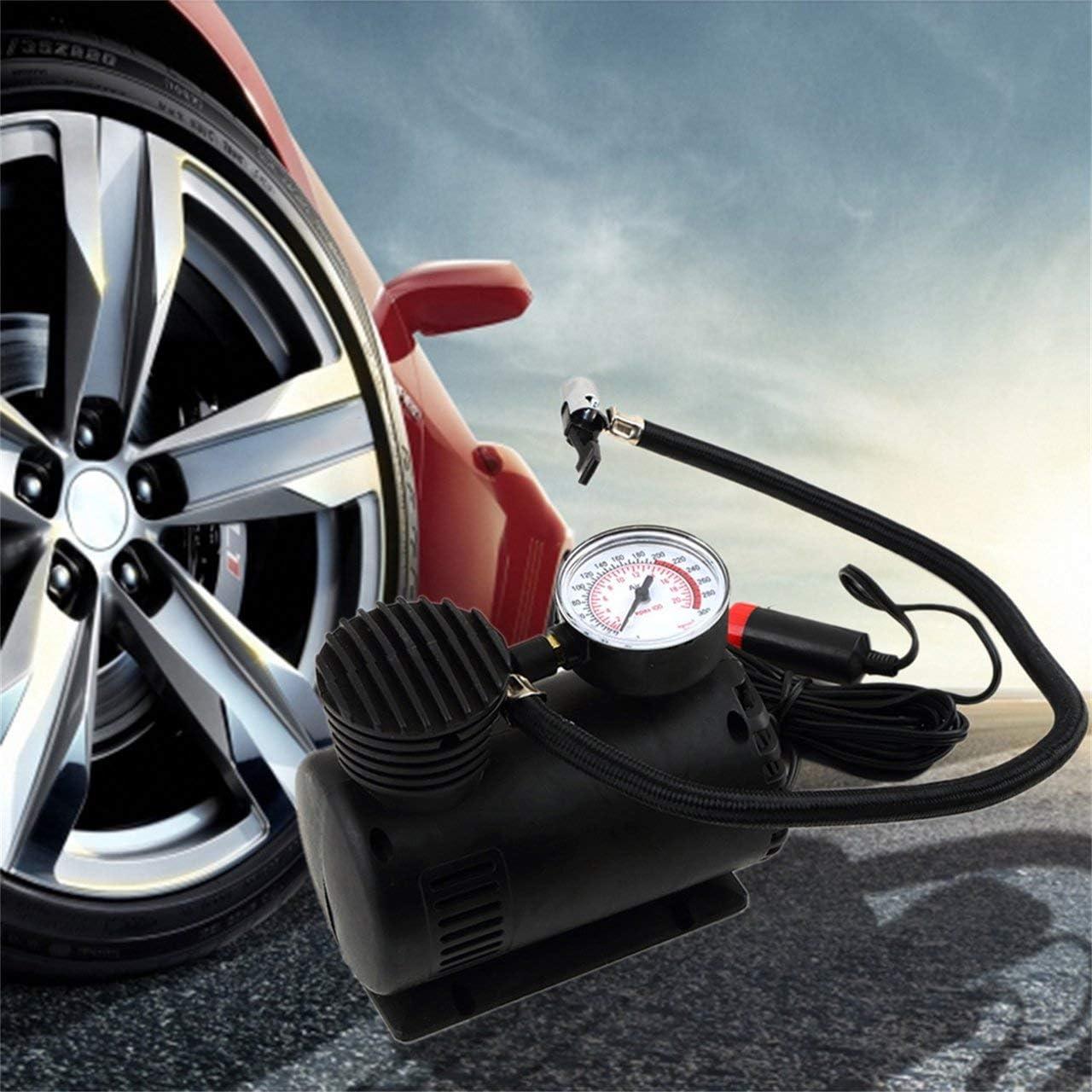 Jasnyfall Nero Portatile 12/V Auto Auto elettrica compressore d Aria Pompa Gonfiatore 300/psi Nero