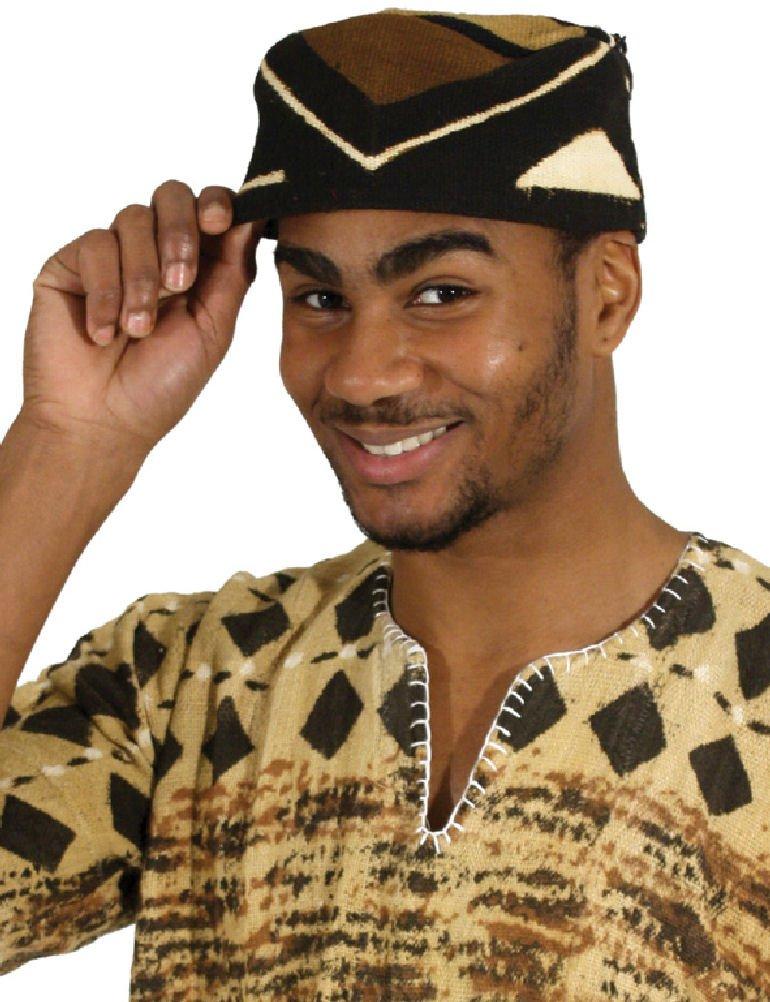 Mudcloth Kufi Kofi Cap Hat
