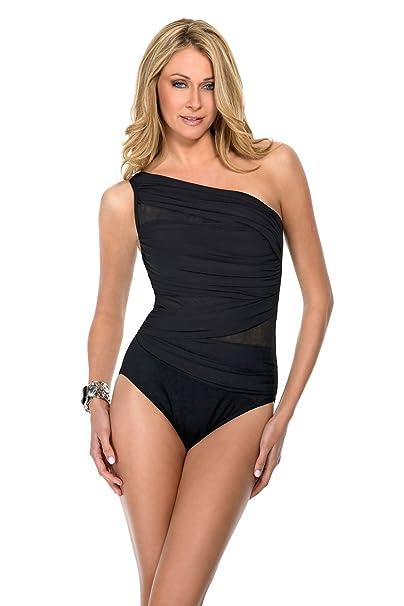 18375dc348 Miraclesuit Jena One-Piece Swimsuit - Black-8: Amazon.ca: Clothing ...