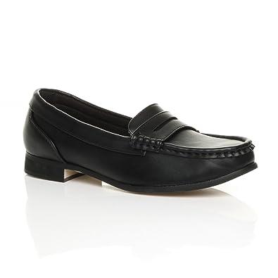 Ajvani Damen Mittelblockabsatz Komfort Leder Grund Mary Jane Pumps Schuhe Größe 4 37 x74UB5v