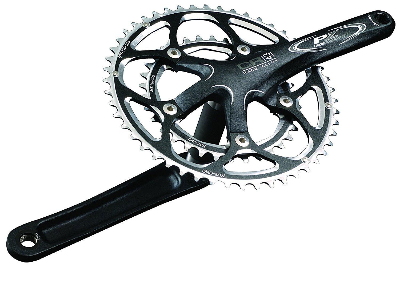 PZ Racing CR4.3K 50T/36T Integrated Bike Crankset 110x170mm Sand Black [並行輸入品] B075K6ZP7S