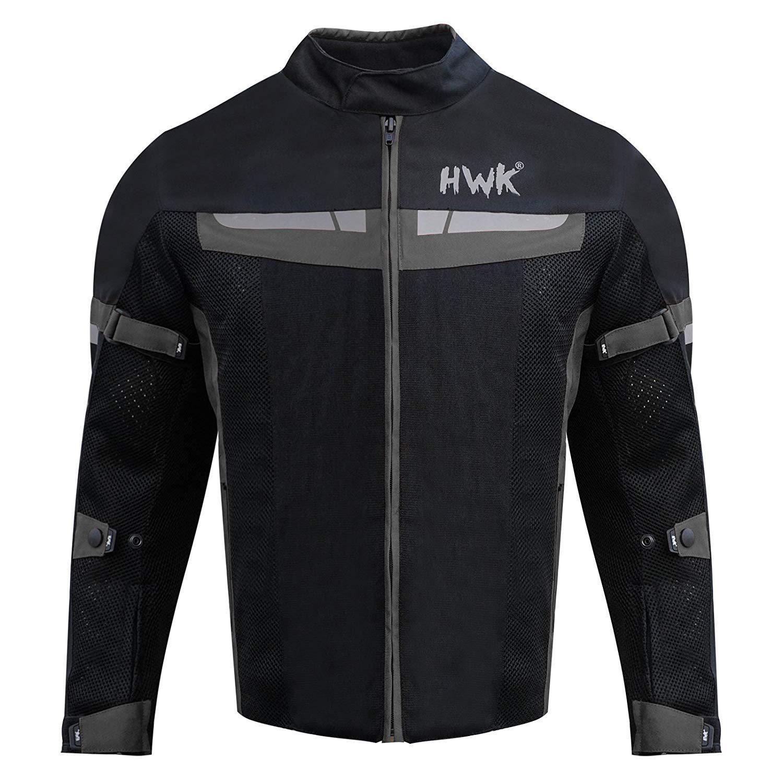 XX-Large, Blue HWK Mesh Motorcycle Jacket Riding Air Motorbike Jacket Biker CE Armored Breathable