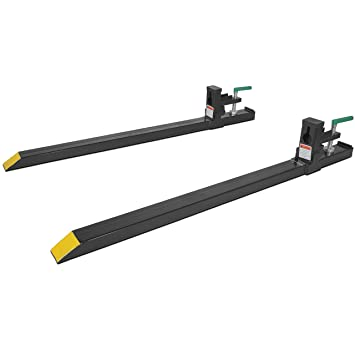 bucket clamp amazoncom clamp on lw pallet forks 1500 lb for bucket loaders