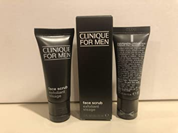 Amazon Com Clinique Skin Supplies For Men Face Scrub Exfoliant Visage All Skin Types 0 5oz 15ml3 Beauty