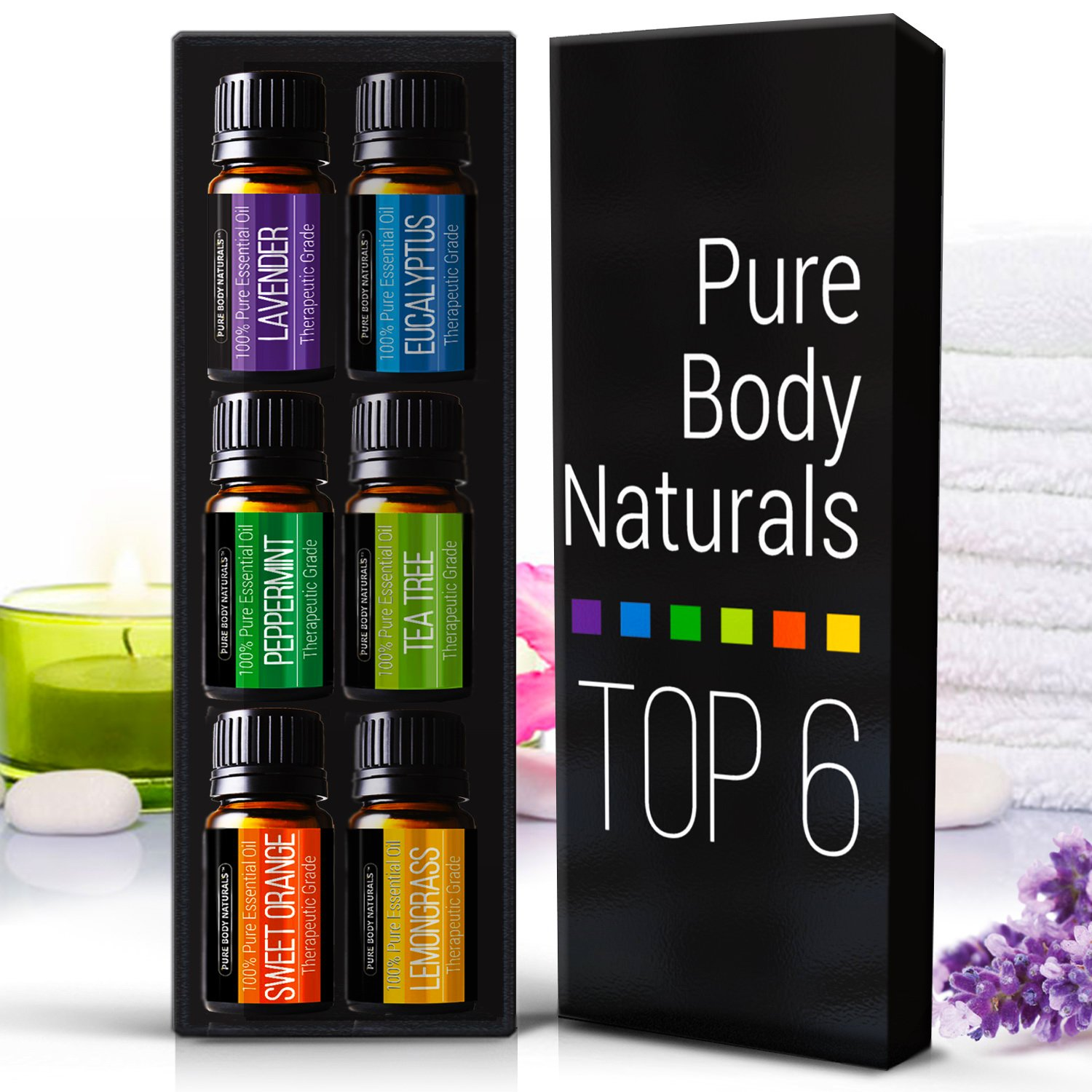 I was recently approached by two different essential oil companies, Alayna  Naturals and Pure Body Naturals, to receive their Top 6 Essential Oils at a  ...