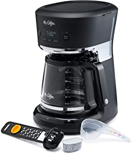 Mr. Coffee Easy Measure 12-Cup Programmable Coffee Maker, Black