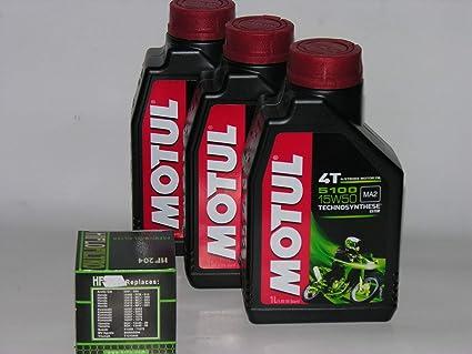 3 Lt L Aceite Moto Motul 5100 15 W50 + Filtro Aceite ...