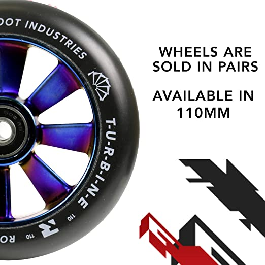 Root Industries Turbine wheel Stunt-Scooter trick Roller Rolle 110mm Neochrome