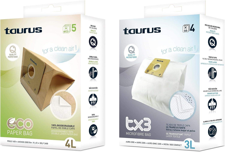 Taurus Microfibra TX3 Papel Accesorio bolsa aspirador, Multicolor ...