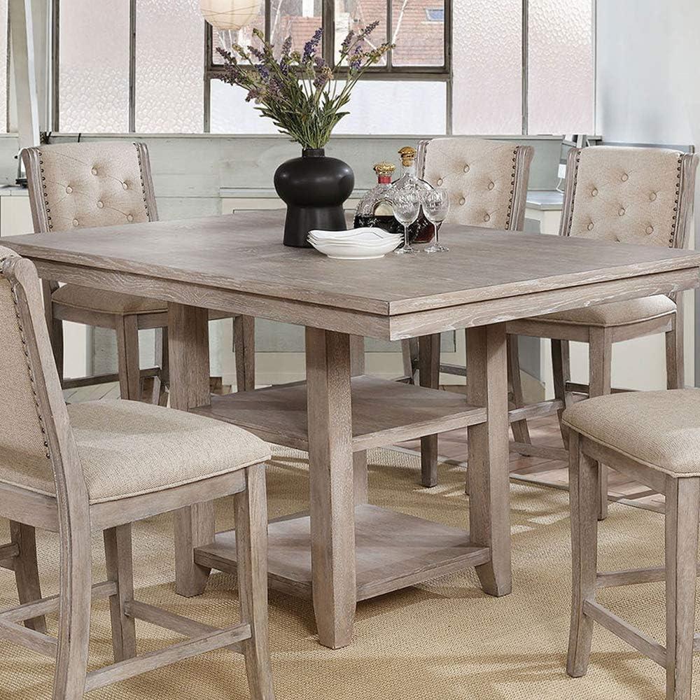 William's Home Furnishing Ledyard Table, Rustic Natural Tone