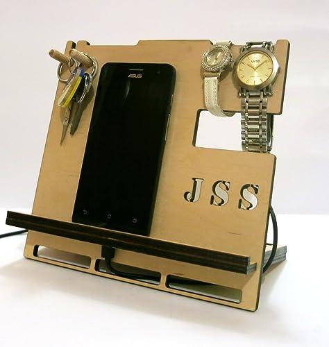 Amazon Dock Stand Personalised Docking Station Cool Mens Gift Birthday Tablet Holder Ipad Charging Anniversary Handmade