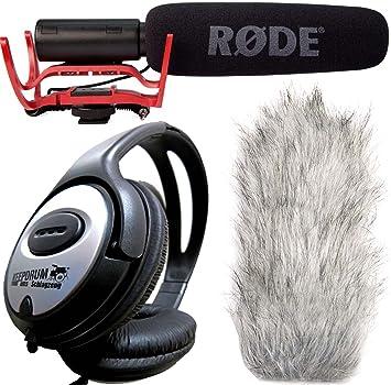 Rode Rycote VideoMic Micrófono direccional + DEADCAT Wind Protección + Auriculares Keepdrum: Amazon.es: Electrónica