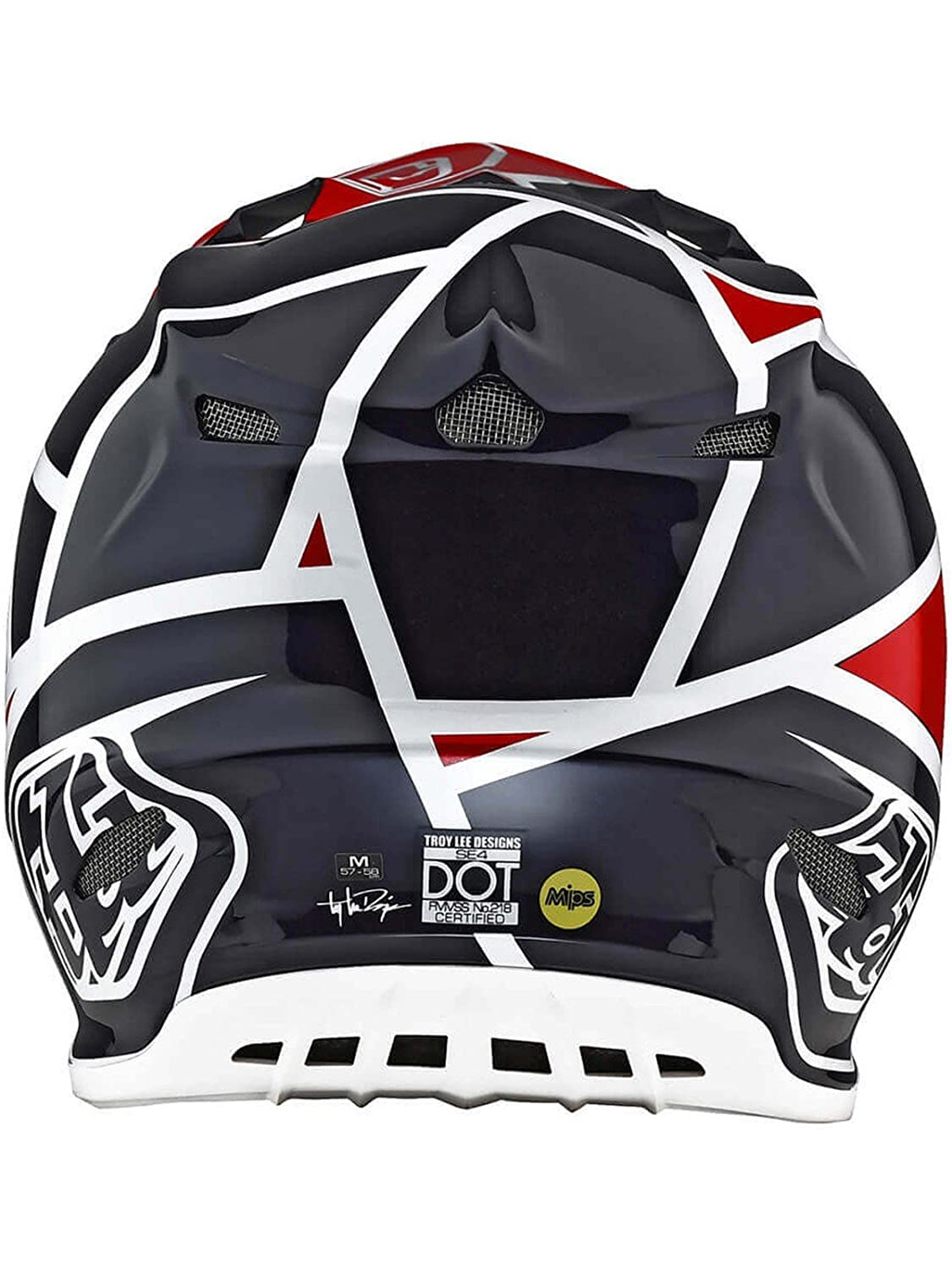 Troy Lee Designs 2018 TLD SE4 18.1 Comp - Casco métrico MX, color rojo y azul marino: Amazon.es: Coche y moto