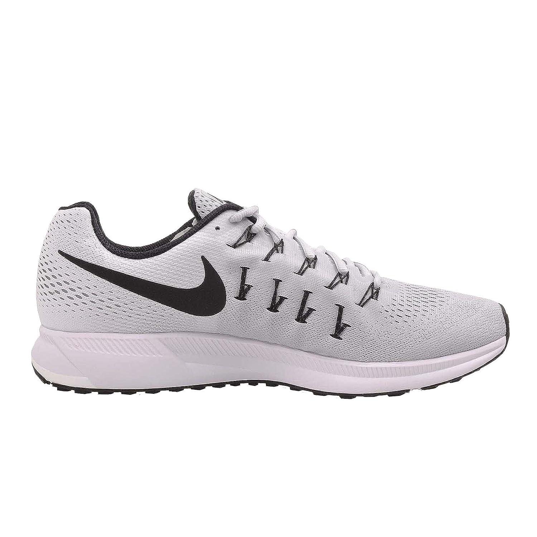 official photos 06665 c0d82 Nike Hombres Air Zoom Pegasus 33 Pure Platinum   Negro-blanco