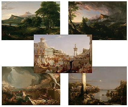 720964619878d TMP Thomas Cole - The Course of Empire - Complete Set - 5 Art Prints -
