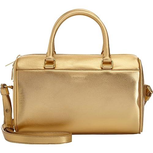 610b8b9334f Saint Laurent Classic Sac Mini Baby Duffle Shoulder Bag Gold Metallic  Leather Satchel Purse 330958: Amazon.ca: Shoes & Handbags