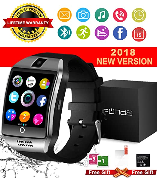 Amazon.com: Bluetooth Smart Watch With Camera Waterproof ...