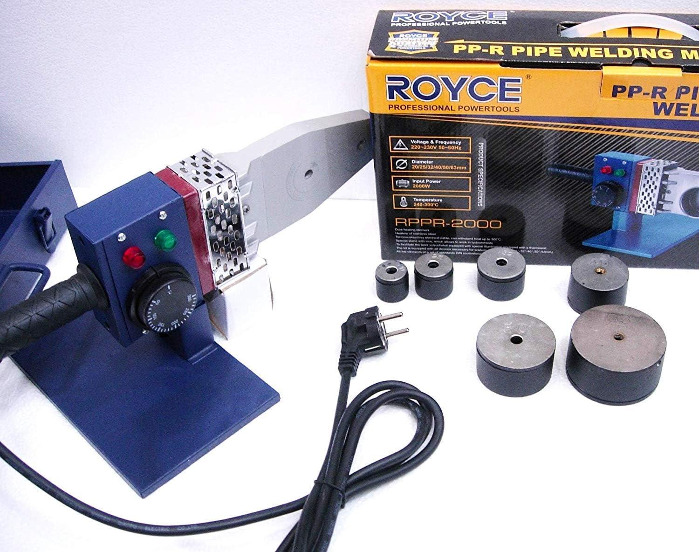 tubos de pl/ástico PVC y PVC 2000 W Polifusor soldador 6 matrices para soldadura