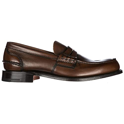 ca24e92f133 Church s Men s Leather Loafers Moccasins pembrey Brown UK Size 8  PEMBREYF0ACL