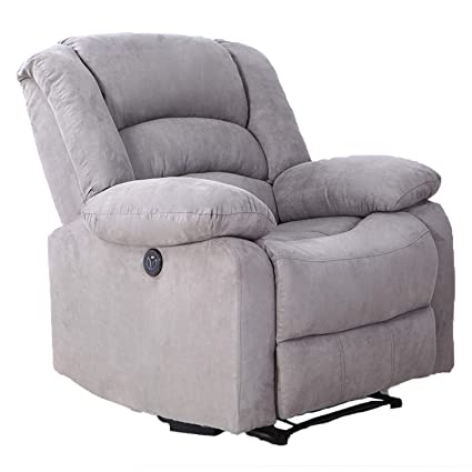 Astounding Modern Power Recliner With Usb Charging Port Lch Heavy Duty Microfiber Single Thicker Cushion Ergonomic Reclining Sofa Chair Gamerscity Chair Design For Home Gamerscityorg