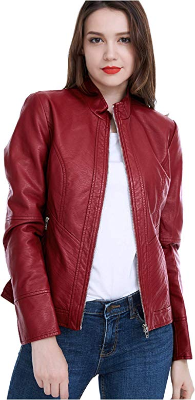 Spring,Autumn Fasbric Womens Lightweight Whole Faux Chamois Leather Zipper Jacket Suede Tops Solid Coat Outwear