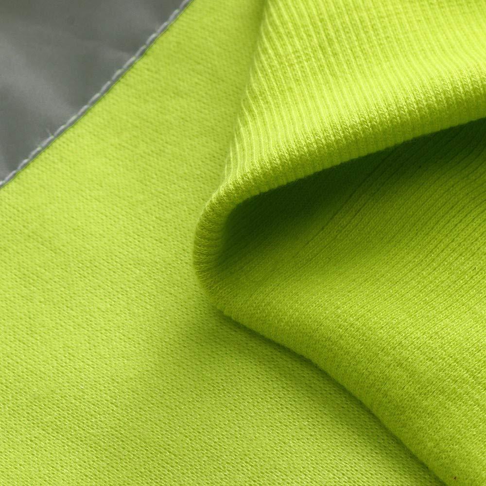 Serzul Men Hooded Jacket Fluorescence High Visibility Long Sleeve Coat Road Work Zipper Jacket Outerwear