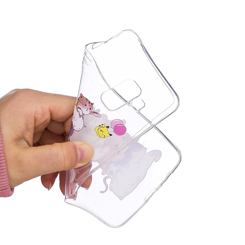 5,5 Zoll Pink Blau Campanula Ultra Slim Thin Weiche TPU Ultrad/ünn Sch/ön Soft Silikon Schutzh/ülle Case Transparent Clear Back Cover SZHTSWU H/ülle f/ür Sony Xperia L2