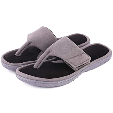 1062d6e8eca422 LongBay Ladies s Spa Thong Flip Flop Slippers Memory Foam Open Toe House  Slip On Home Shoes