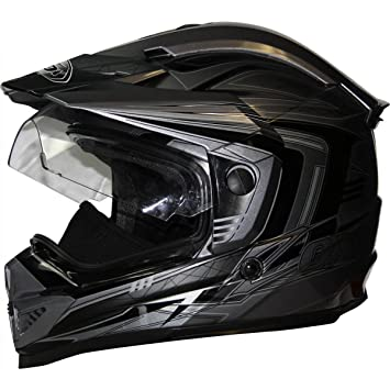 ZOX Rush SFX Adventure - Casco de moto para adultos, color plateado