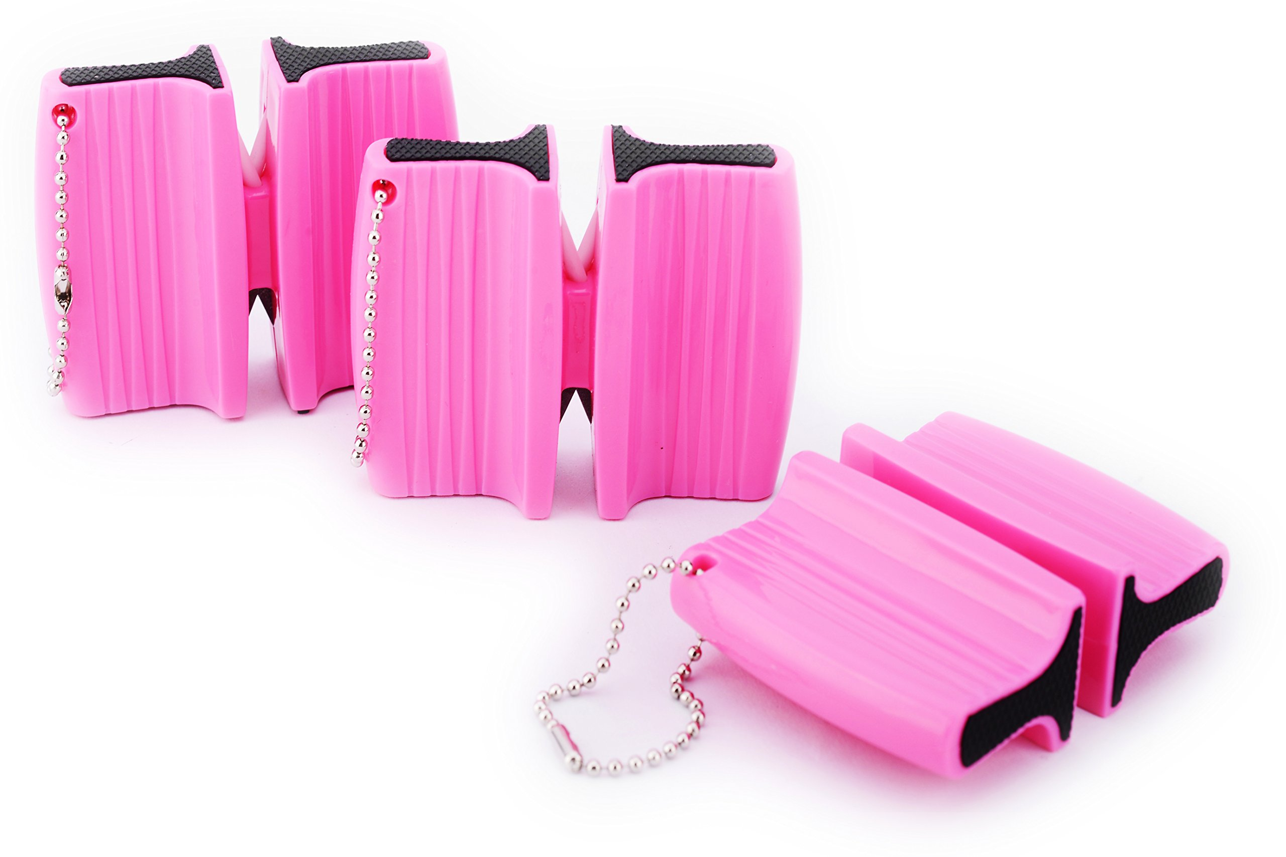 Waypower Knife Sharpeners, Pink Fine And Coarse Dual Mini,practical Handle by Waypower