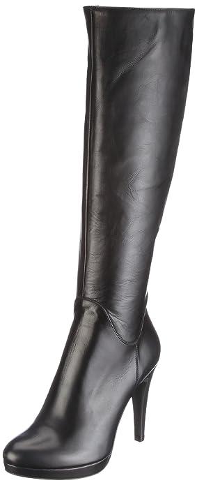 18dc9bb6ca79ec Evita Shoes Stiefel elegant hoch Boots Women s Black Schwarz schwarz Size   6.5 (40