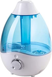 Lasko UH200 Cool Mist Humidifier with Essential Oils, Quiet and Soothing Ultrasonic Baby Humidifiers for Nursery, Bedroom, Kids, Large or Small Room and Home, 2.8L Tank, No Filter