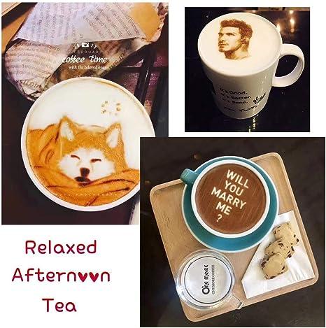 Impresora Mokka 3D Coffee, 2018 Upgrade 4 Tazas Latte Cake Selfie ...