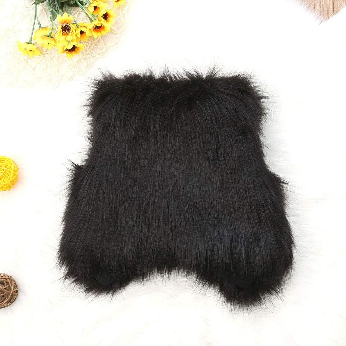 Toddler Kid Girl Faux Fur Vest Coat Baby Waistcoat Autumn Winter Warm Outwear Tops