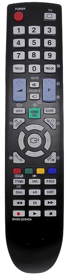 allimity Nuevo Reemplace el control remoto BN59-00940A Ajuste para SAMSUNG LE40B530P7W TV