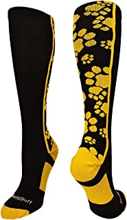 product image for MadSportsStuff Crazy Socks with Paws Over The Calf (Multiple Colors)