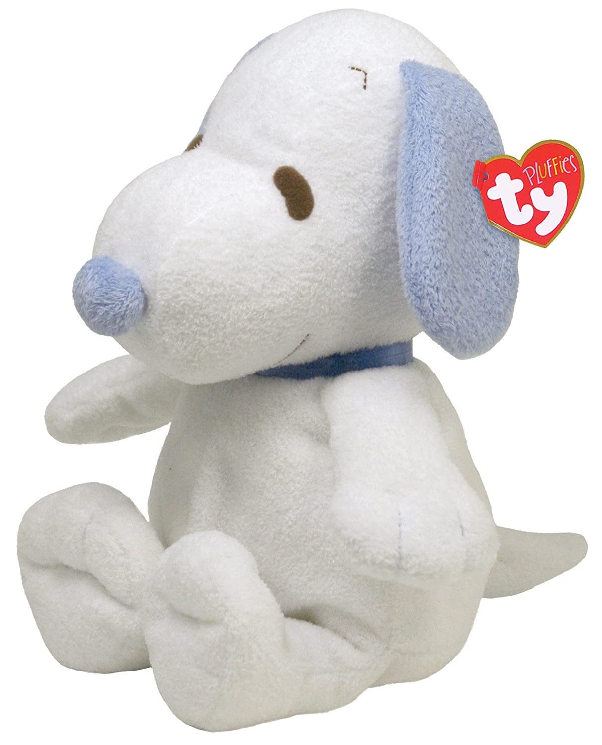 Amazon Com Ty Pluffies Snoopy White Blue Toys Games