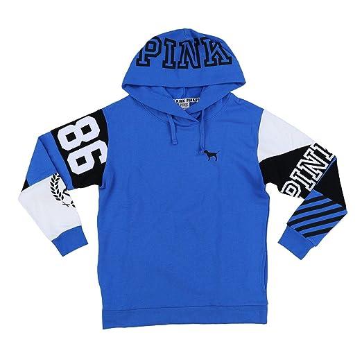 5889f9a272b8 Victoria s Secret Pink Hoodie Campus Crossover Tunic Sweatshirt (XS, Blue)