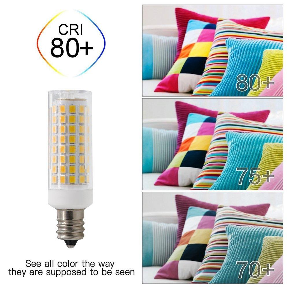 Ceiling Fan Dimmable E12 LED Candelabra Base Bulbs,7W 120V E12 Led Bulb Desk Lamp E12 75W Halogen Lamp Replacement Z S 750 Lumens 4Pack for Chandelier Daylight White 6000K