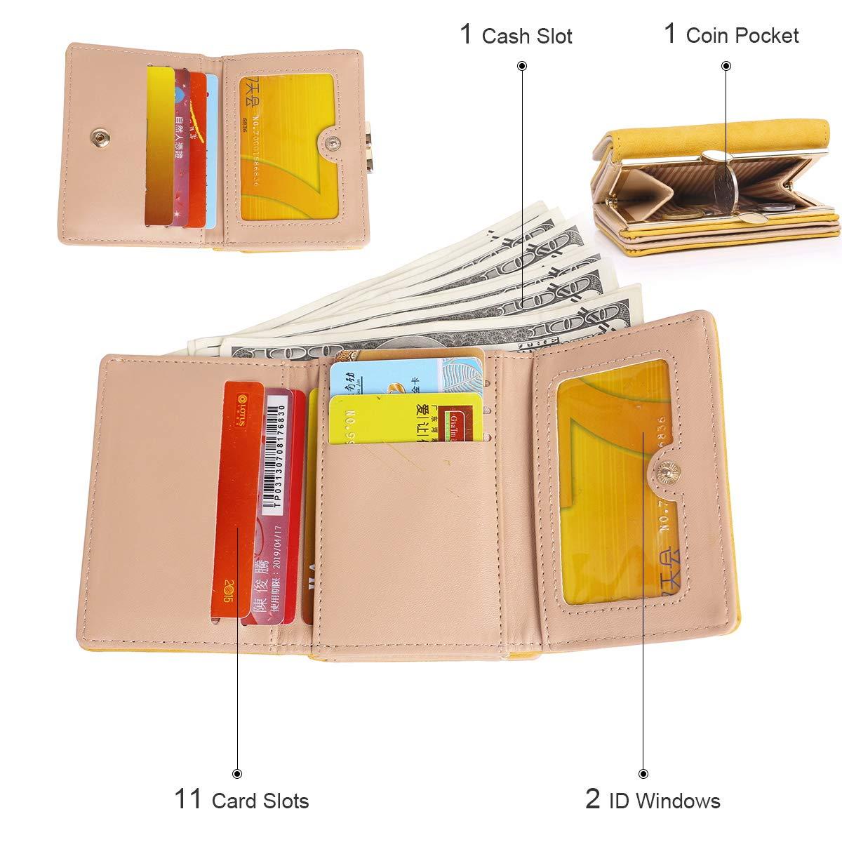 10 Fentes pour Cartes Portefeuille femme fille petit portefeuille parapluie d/écoration portefeuille /él/égant en cuir souple portefeuille souple en cuir souple protection RFID portefeuille pour enfants