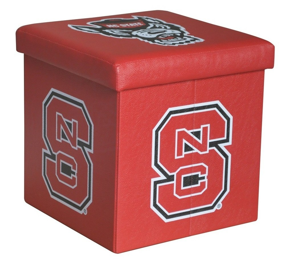 NC State Small Storage Ottoman - Fully Collapsible