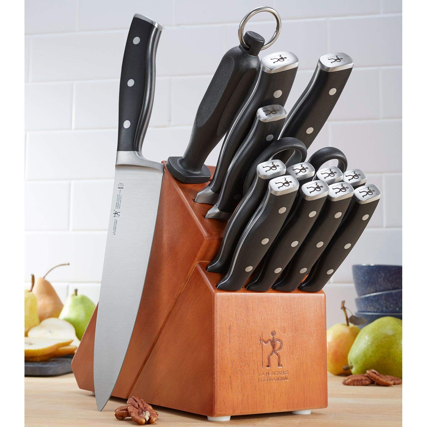 Zwilling J.A. Henckels 15-Piece Knife Set | High-Carbon German Stainless Steel Cutlery Set with Block and Sharpener by ZWILLING J.A. Henckels (Image #3)