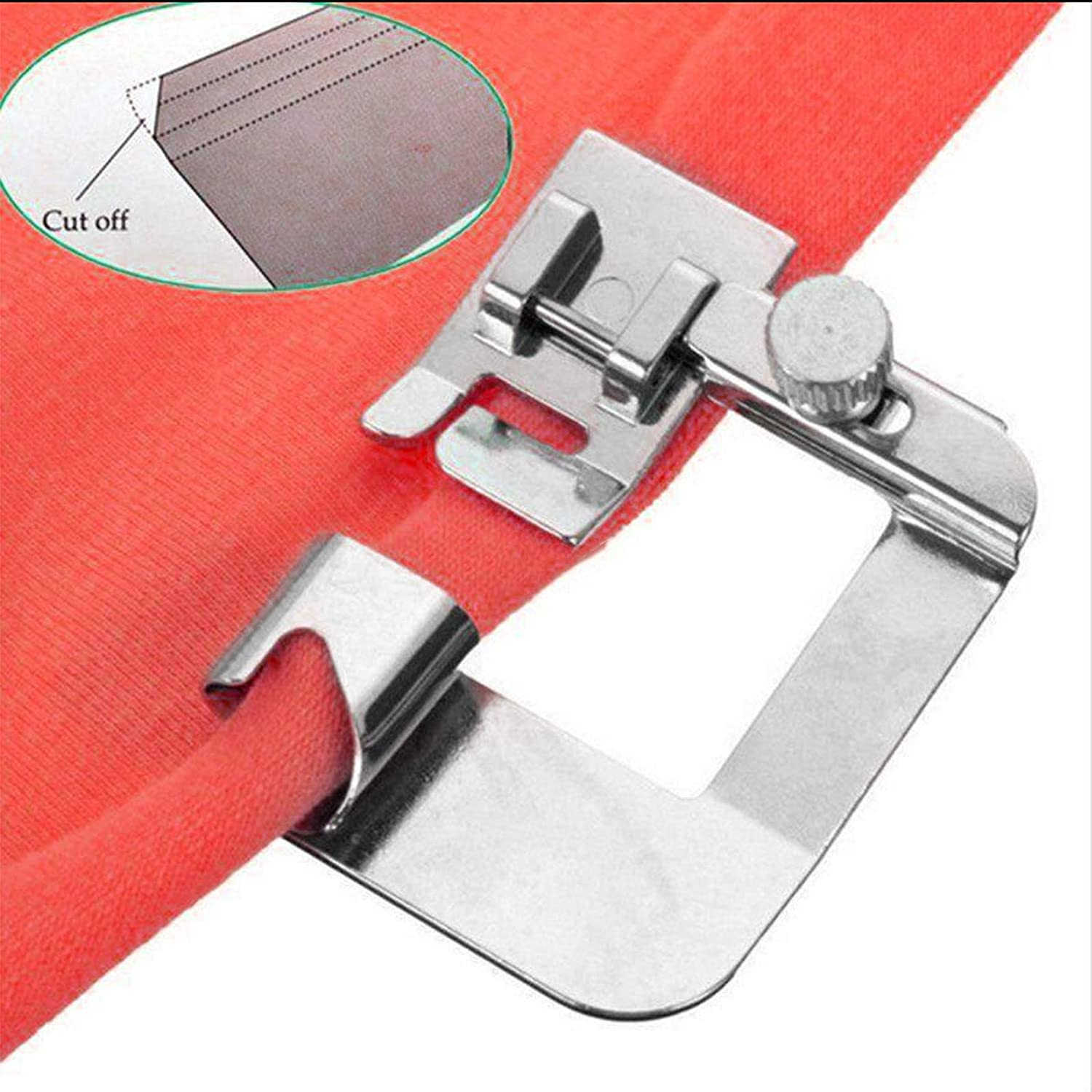 Low Shank Adapter Snap-On Presser Foot for Singer Brother Toyota New Home Simplicity Janome Kenmore Babylock Elna Most Low Shank Sewing Machine Snap-On Adapter by Windman
