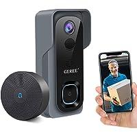 Video Doorbell Camera Wireless WiFi Smart Doorbell,32GB Preinstalled,GEREE 1080P HD Security Home Camera,Real-Time Video…