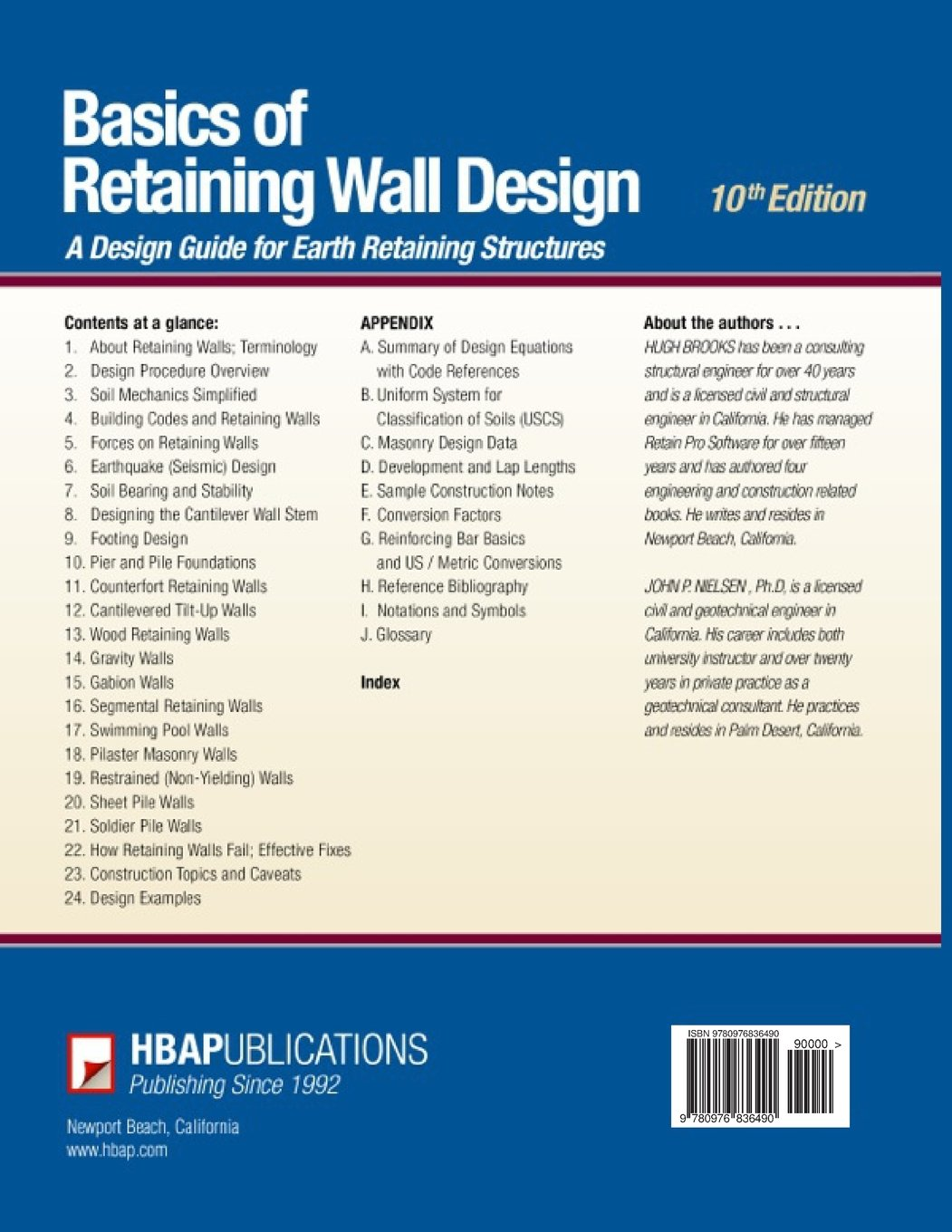 Basics of Retaining Wall Design 10th Edition Mr Hugh Brooks Mr