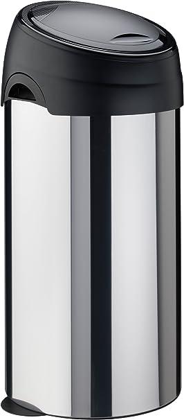 Color Negro 40 L Meliconi Cubo con Apertura a presi/ón